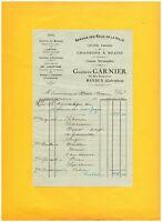 """BAYEUX (14) Ets de TRAVAUX PUBLICS / PLOMBERIE SANITAIRES """"Gustave GARNIER"""" 1921"""