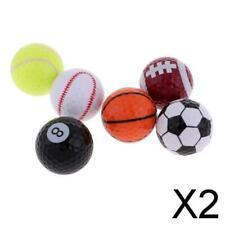2X Kreativer Golf Trainingsball Sport Ball Entwurf für Golfspieler Geschenk