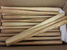 "50 Mini Souvenir Baseball Bats 18"" Real Wood Blemish Bats Plain"