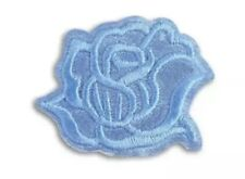 Light Blue Rose Flower Patch  Iron On Motif Child or Adult Embellishment