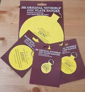 Plate Picture Hanger Disc Self Adhesive Stick on Hook 4 Size Available