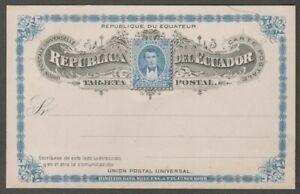 Ecuador 1894 3c postal card unused HG #13
