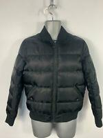 MENS WRM BLACK CASUAL DOWN PADDED ZIP UP PUFFER BOMBER JACKET COAT SIZE SMALL