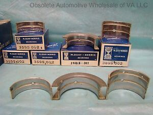 1956 Pontiac 316 Main Bearing SET 002 Chieftain Star Chief Special 870 De Luxe