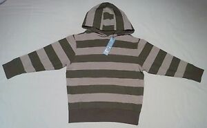 BNWT, Boys, Sweatshirt, Hoodie, Size 7-8 years, Khaki mix, By Marks and Spencers