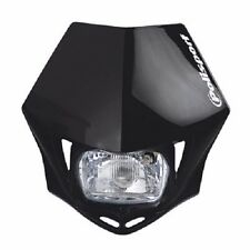 Polisport MMX Headlight Black Motorcycle Dirt Bike Dual Sport Enduro DOT