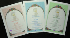 50 BABY INVITATIONS ANNOUNCEMENTS PRECIOUS MOMENTS MANY DESIGNS PERSONALIZED