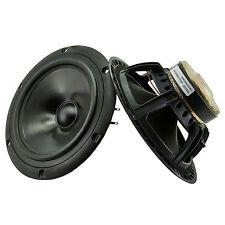 Peerless M16NH 185mm hifi bass speaker woofers PAIR NOS 8ohm