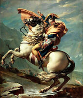 Oil painting Jacques Louis David - Napoleon Crossing the Alps on White Horse 36""