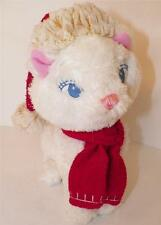 "Disney Store Xmas Winter Holiday Xmas Santa Marie Aristocats Red Scarf 11"""