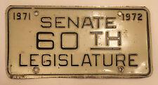 1971 1972 West Virginia Legislature Senate Senator License Plate Government