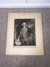 Mezzotint Print Major General William Phillips Rev War Officer London 1785