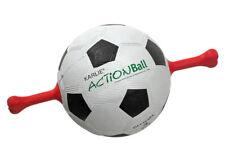 Karlie Actionball Fussball mit roten Griffen Hundetrainer Hundespielzeug 19 Cm