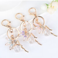 Car Pendants Charms Fairy Crystal Handbag Key Chain Keychain Metal Key Ring