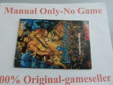 Lord of Darkness SNES Manual Only, 100% original, Free Shipping