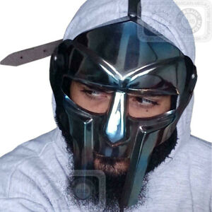 Medieval Steel Gladiator FACE MASK Hand Forged sca larp helmet roman armor X-MAS