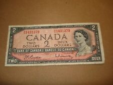 1954 - Canadian $2 bill - tw0 dollar note Canada - RU1431379