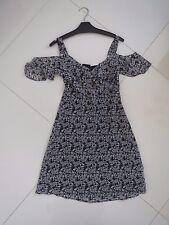 BN Jeanswest Ladies Dottie Drop Sleeve Lined Black Printed Dress  Size: 6