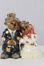 Boyds Bearware Potteryworks S&P Shakers, Grenville & Beatrice, #390022, New