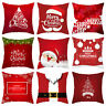 Snowflake Pillowcase Sofa cushion cover Santa Claus Christmas Home Decoration