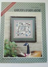 QUILTED CANADA GEESE Robin Designs Cross Stitch Pattern Leaflet 1985 Goose