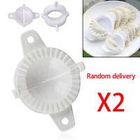 2X Press Plastic Dough DIY Dumpling Gyoza Pie Making Maker Mould Kitchen