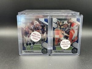 2019 Panini Elements Tom Brady METAL /75 Lot (2) w/ Protective Cover SP #36 #38
