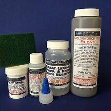 Colorworks Pro Leather/Vinyl Repair Kit for auto/truck interiors-Audi Fells Grey