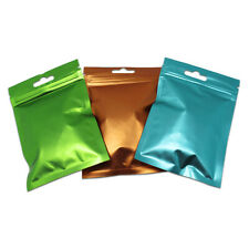 Reusable Matte Plastic Mylar Bags for Zip Foil Packaging Lock Food Storage Pouch