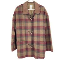 Vintage NEIMAN MARCUS L Mens Jacket Wool Blend 80s 70s Plaid Hunting Made in USA