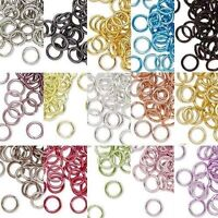 100 ROUND 6MM COLORED ALUMINUM JUMPRINGS 18 GAUGE OPEN JUMP RINGS