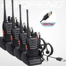 BaoFeng 4PCS Walkie Talkie BF-888S UHF 400-470MHZ 2-Way Radio 16CH Long Range UK