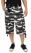 448f251911 Proclub TWILL CARGO SHORTS Casual Pants Mens Authentic Classic Multi Pockets