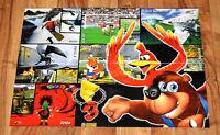 1998 Banjo-Kazooie / Turok / Twelve Tales Conker 64 rare Poster Nintendo 64 N64