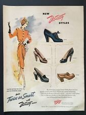 1946 Vitality Shoes Ad You're Twice as Smart with Vitality Shoes