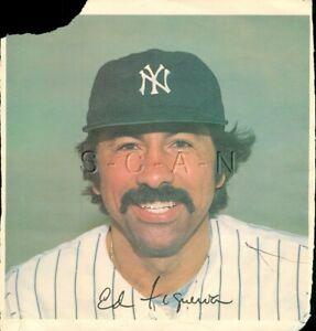 Original 1978 New York Yankees Large Baseball Player Lithograph- Ed Figueroa