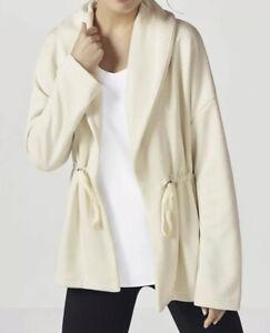 Fabletics Sage Coat Fleece Lined Open Cardigan Soft Size 2X Cream