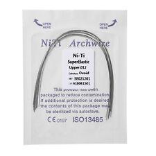 100 Stück Ortodoncia Súper Elástica Niti Arch Wire Runde Forma Ovoide