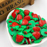 50/100/500pcs Strawberry Plastic Buttons For Kid's Sewing Notions Crafts PT37