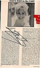Jane Powell; Original Autograph RARE