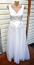 Vintage Deidra Rhodes Satin & Soft Tulle Wedding Dress - Size 8/10