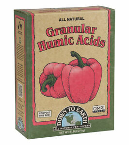 Down To Earth - Granular Humic Acids 5 LB - All Natural Organic Fertilizers