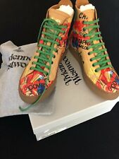 NEW VIVIENNE WESTWOOD GOLD LABEL High Top LEATHER Trainer Size 8