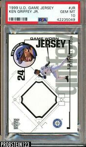 1999 Upper Deck Game Jersey Ken Griffey Jr. HOF GU Jersey Mariners PSA 10
