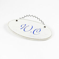 W.C - French Room Sign Hanging Plaque Decorative Chic Ceramic Door Sign