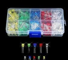 375pcs 3mm 5mm LED Light-emitting Diode Beads Resistance Lights Kits Bulb Lamp C
