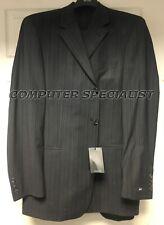 HUGO BOSS Einstein / Sigma 42R Black 3 Button Wool Pinstripe Suit 36 Pants NEW!