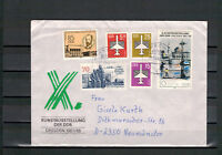 """DDR, FDC """"Kunstaustellung"""" MiNr. 3124 + ZuF Kirschau nach Neumünster 27.10.1987"""