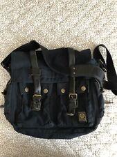 Iconic Colonial Messenger Bag the Belstaff 554 -black vintage style satchel