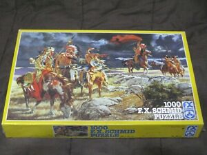FX Schmid 1000 Pc. Puzzle SEALED Artist Harry Schaare SIGNAL (Native Americans)